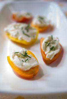 Cheese stuffed mini peppers