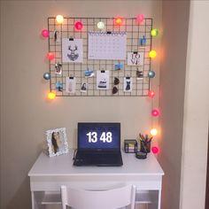 Home Office / Memory Board / Memory Grid / Tela Aramada / Polaroid / Mural de Fotos / Tumblr Decor / Decor