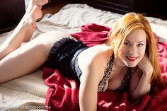 Camille Crimson - Red lips, redhead.