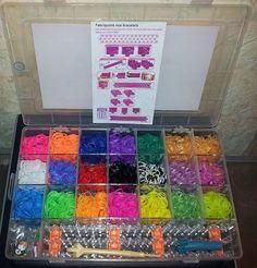 Super offerta  4200 Elastici Colorati Loom Bands + Telaio + Charms