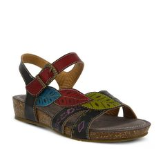 d142d1053da BLACK MULTI KUKONDA SANDAL by L ARTISTE – Spring Step Shoes Slide Sandals
