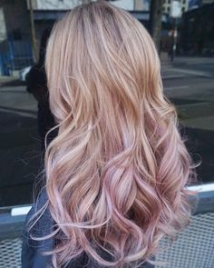 so freaking cute Gold Hair Colors, Hair Color Pink, Cool Hair Color, Blonde Color, Gold Colour, Hair Color Balayage, Ombre Hair, Blonde Pink Balayage, Balayage Diy