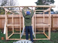 Easy Chicken Co-op Plans   An easy chicken coop to build, The Garden Coop makes a great DIY ...