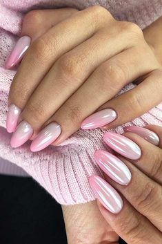 Pink Ombre Nail Design #ombrenails A pink color is hot and fun, and its meaning makes it worth adding to your life. Pink clothes, nails, hair, and blush come in light and dark shades. #pinkcolor #colorinspiration #pink #glaminati #lifestyle