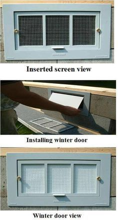 Energy Efficient Crawl Space Foundation Vent Covers -- not sure if we need these but good to know.