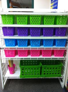 Clutter-Free Classroom: Dollar Store Storage {Coffee and a Clever Idea}