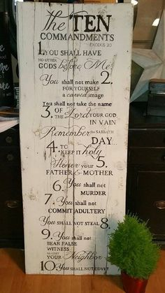 10+Commandments+Pallet+Sign