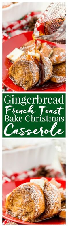 This Gingerbread French Toast Bake Casserole is the perfect way to kick off a snowy holiday morning, or any morning for that matter! It's easy to make and bursting with the sweet and spicy flavors of gingerbread and you can prep it the night before if you'd like! via @sugarandsoulco