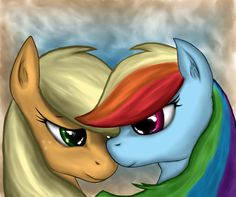 The Dash n' AJ painting by Leyanor on DeviantArt