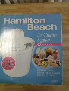 BRAND NEW Hamilton Beach Ice Cream Maker 68330R MANUEL WITH RECIPES