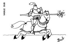 Caricatura de VASILE DUB, publicata in almanahul PERPETUUM COMIC '97 editat de URZICA, revista de satira si umor din Romania
