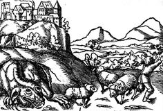 Smok Wawelski - A dragon of Polish folklore who exploded after drinking half of the Vistula River, due to extreme thirst from eating a goat stuffed with sulphur