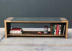 Bank, Sideboard, Beton, Holz, Wohnzimmer, Esszimmer, Design, Concrete, Wood, Goodlife, Idealhome