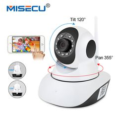 MISECU Pan Tilt 1080P Wifi Full 355 degree rotation 720P Camera Audio Wireless SD Card Onvif. Click visit to buy