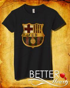 Barcelona Logo Women TShirt  Barcelona TShirt   by BETTERHEART, $18.98