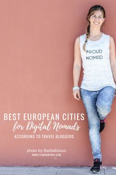 Best European Cities for Digital Nomads Pinterest