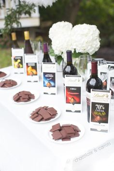 Lindt Chocolate and Wine Pairing Party from Caroline Edwards | chocolate and carrots