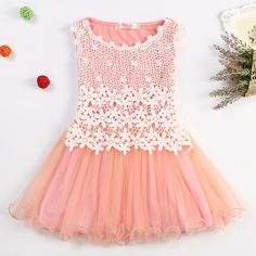 c08233b1c2a Fairy Princess Lace Flowers Girls Dress Kids Birthday Party Wear Toddler  TuTu Girls Dresses Girl Clothing Kids Baptism Clothes - free shipping  worldwide