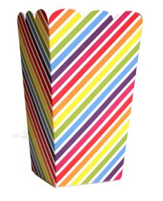 Rainbow Stripe Treat Box Price: $ 11.95  Colour us happy, it's a pack of fabulous rainbow candy treat boxes - complete with divine scallop edge!  These gorgeous high quality rainbow stripe party treat boxes can hold all sorts of treats and party favours! Perfect for any occasion - boys parties, girls parties and of course the perfectly styled rainbow party!  Little Boo-Teek - Candy Treat Boxes Online | Rainbow Party Theme Supplies