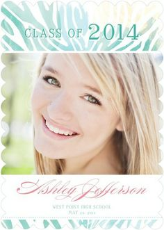 Free Spirit - #Graduation Announcements - Victoria Justice - Bay Green #TinyPrintsGrad