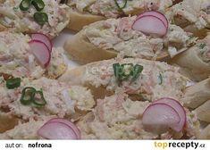 Pomazánka s celerem recept - TopRecepty.cz Ham, Potato Salad, Potatoes, Cheese, Ethnic Recipes, Kochen, Potato, Hams