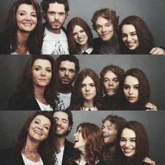 - Game of Thrones Michelle Fairley, Richard Madden, Rose Leslie, Alfie Allen and Emilia Clarke