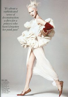 Alexander McQueen, David Sims, fashion, models, sasha pivovarova, Vogue