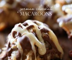 German Chocolate Macaroons from chef-in-training.com ...These cookies are SO delicious! If you love german chocolate, then you are going to go crazy over these!