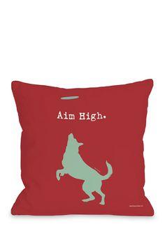 Aim High Dog Pillow with Zipper on HauteLook