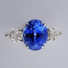 Vintage Estate 6.48ct Natural Cornflower Blue Sapphire Platinum Diamond Ring in Jewelry & Watches, Vintage & Antique Jewelry, Other Vintage Jewelry | eBay