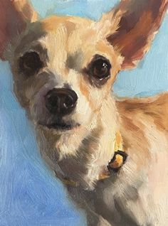 Daily Paintworks - - Original Fine Art for Sale - © Katya Minkina Oil Painting Pictures, Art Pictures, Photos, Painting Inspiration, Art Inspo, Chihuahua Art, Dog Portraits, Animal Paintings, Dog Art
