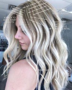 Hair Cutting Techniques, Hair Color Techniques, Hair Color Placement, Redken Hair Color, Blonde Foils, Redken Hair Products, Hair Color Formulas, Blonde Hair Looks, Great Hair