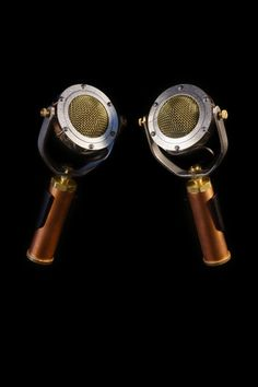 Ear Trumpet Labs - Edwina Stereo Pair: Studio and Live applications include drum overheads, room mics, microphones for acoustic instruments and vocals as well as group performances Music Gadgets, Akg, Recording Studio, Trumpet, Drum, Acoustic, Instruments, Music Things, Photo And Video