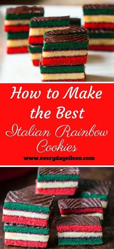 How to Make the Best Italian Rainbow Cookies talian Rainbow Cookies are so popular at many bakeries .Make them at home for an even better flavor ! Perfect for Holidays and family gatherings #ChristmasCookies #HolidayCookies #ItalianCookies #CookieExchange