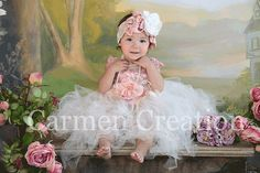 Fairy Tutu by labellabycarmen on Etsy, $125.00 (fairy wedding court i.e. multiple flower girls)