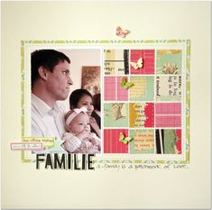 UpCycle_Cosmo Cricket_Family_Scrapbook_layout