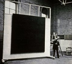 """Marc Rothko's studio _ """"The reason for my painting large canvases is that I want to be intimate and human. To paint a small picture is to place yourself outside your experience (...). However you paint the larger picture, you are in it"""" _"""