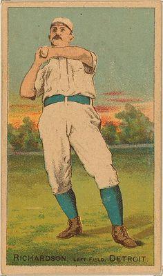 [Hardy Richardson, Detroit Wolverines, baseball card portrait]