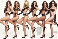 Miranda Kerr, Alessandra Ambrosio, Adrianna Lima  i wonder if they all hate each other