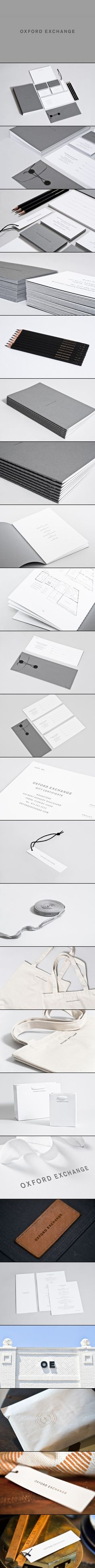 Oxford Exchange | Studio Birdsall | #stationary #corporate #design #corporatedesign #identity #branding #marketing < repinned by www.BlickeDeeler.de | Take a look at www.LogoGestaltung-Hamburg.de