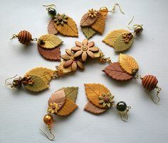 Falling Leaves Earrings | Flickr – Condivisione di foto!
