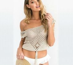 Crochet Short Sleeve Top