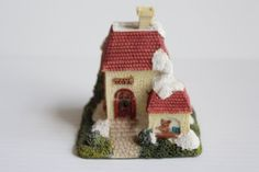 CORNWALL COTTAGE COLLECTION, small shop figure, white shop with red roof, shop for children, The Children's Shoppe, housewarming gift
