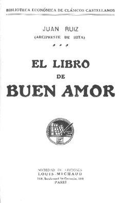 Libro de buen amor, supuestamente por el arcipreste de Hita