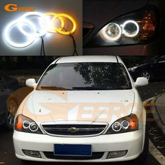 For Chevrolet Epica 2004 2005 2006 Excellent Ultra bright Dual Color Switchback smd LED Angel Eyes Halo Rings kit