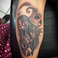 Jack and Sally for Bernard tonight! Cheers! #tattoo #tattooed #ink #inked #jackandsally #nightmarebeforechristmas #happywifehappylife #empiretattooboston #ladytattooer #comegetsome