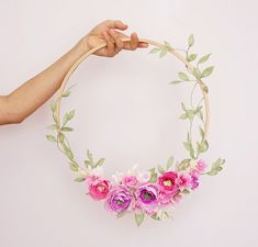 A wreath made especially for you, from the colors and style of flowers of your choosing. Hand dyed, bleached, cut and shaped flowers made from the