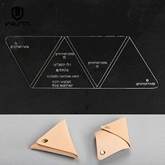 Wuta Trilateral Coin Purse Pattern Acrylic Template for Leather Craft 1 Pcs set WT897 ** You can get additional details at the image link.