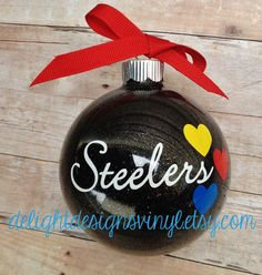Large Pittsburgh Steelers Ornament by #delightdesignsvinyl on #Etsy