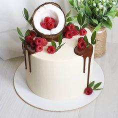New Cake Design, Cake Designs, Big Cakes, Cute Cakes, Sweets Cake, Cupcake Cakes, Brithday Cake, Dessert Decoration, Cake Decorating Techniques